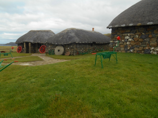 Thatched cottages at the Museum of Island life