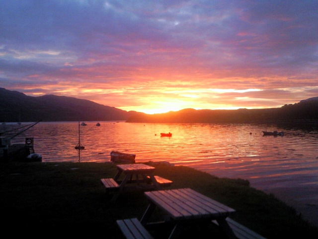 Sunrise over the Sound of Sleat