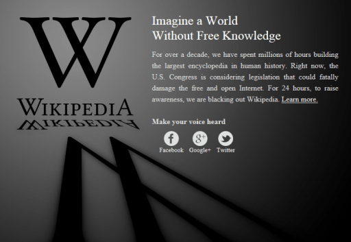 Wikipedia OFF for 24 hrs