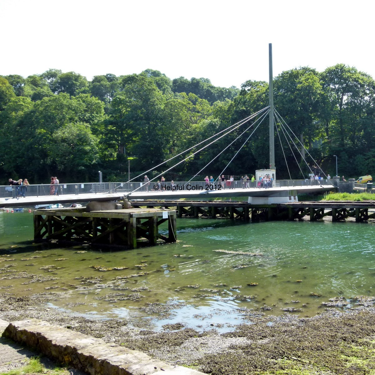 The Caernarfon Swing Bridge Across The Seiont
