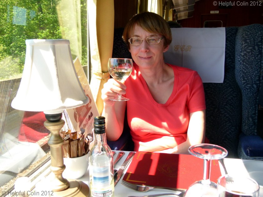 dining on a steam train