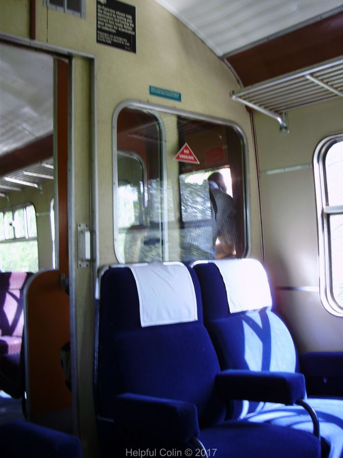 The accommodation within the Class 101 DMU in which we travelled.