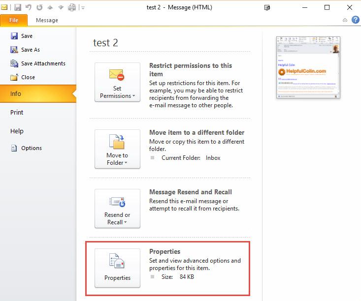 Digital Signature - Email Properties Icon