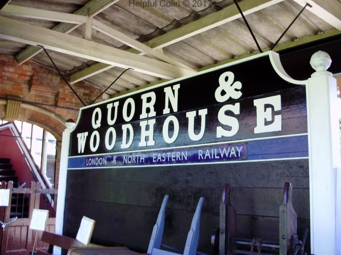 Quorn & Woodhouse Name Board