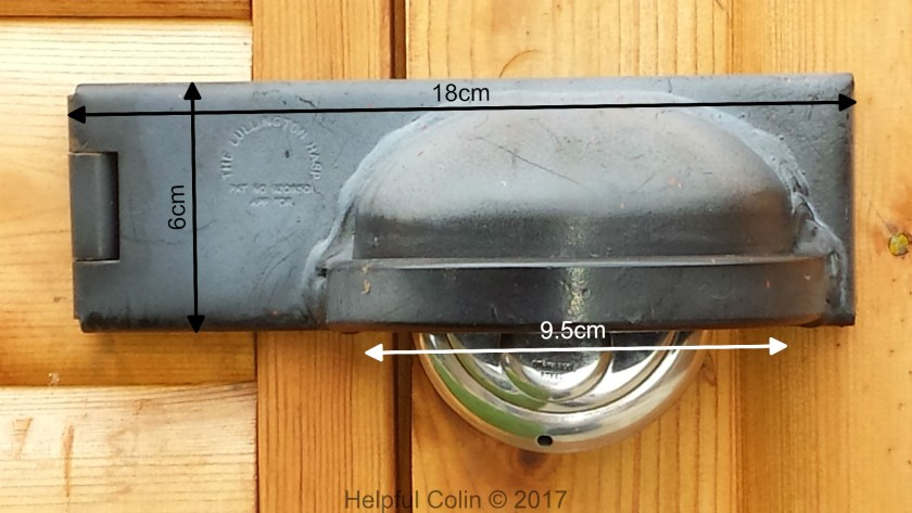 The Lullington Hasp Closed - Securing Shed Doors
