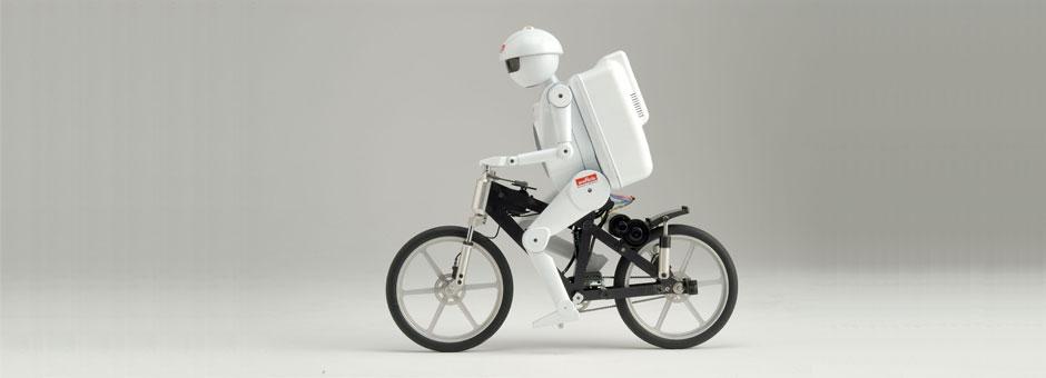 Gyroscopes & Cameras Help Bike Riding Robots