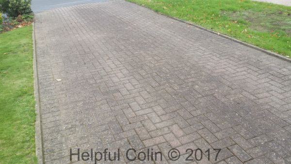 chamfered block paving moss
