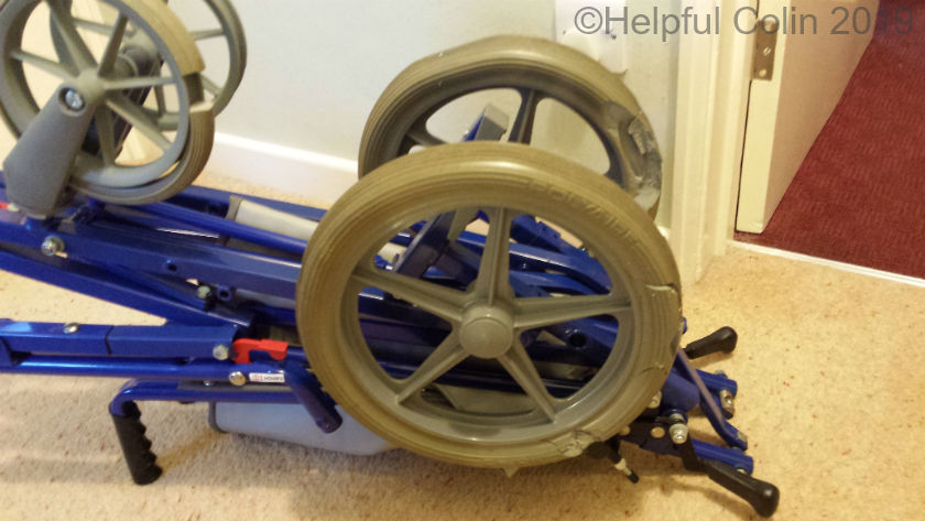 Remploy stowaway wheelchair with rotten wheelchair tyres