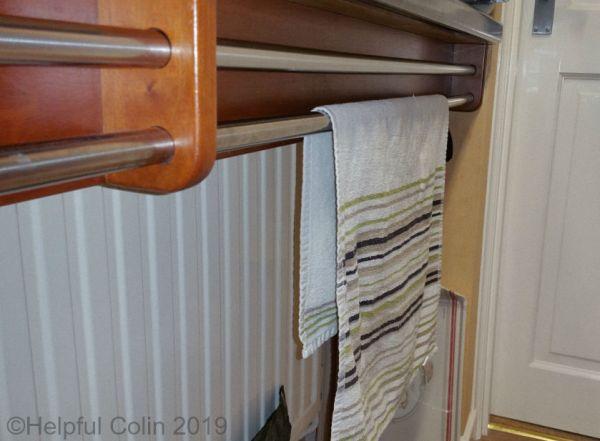 twin towel rails