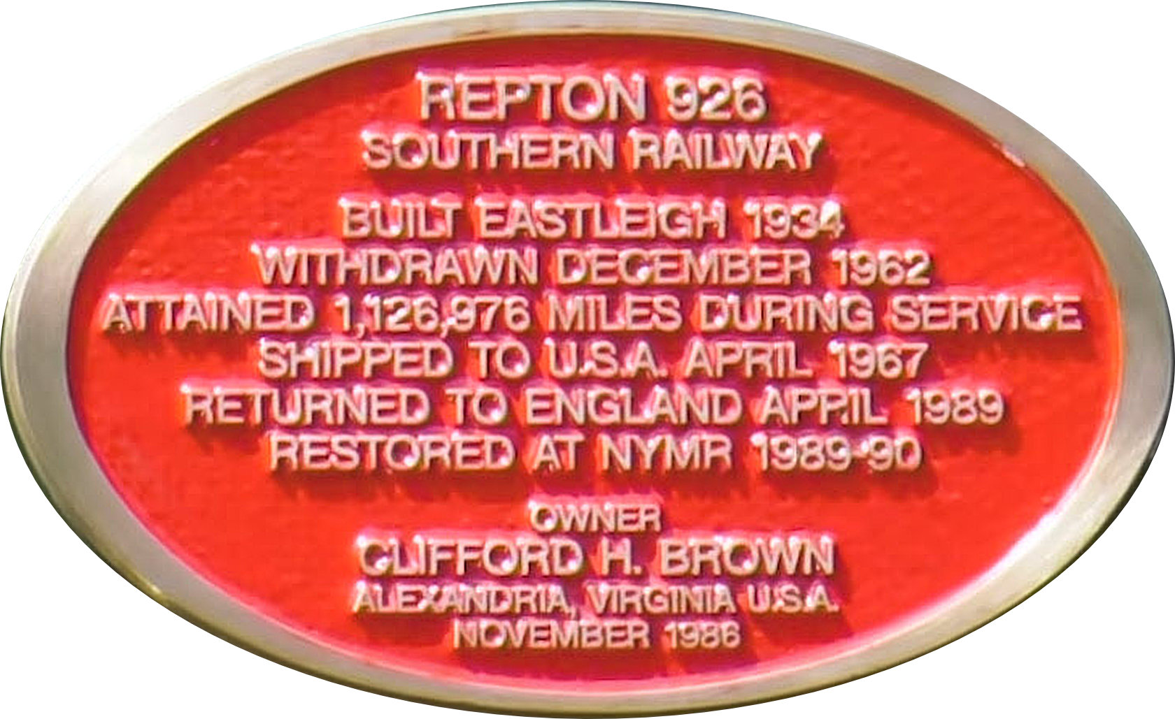 Repton's information plate