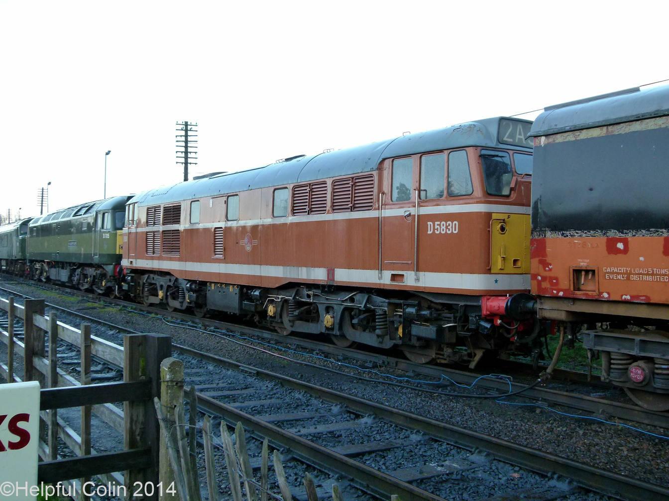 No.D5830 – Orange-brown ('golden ochre') liveried A1A-A1A Brush powered Class 31