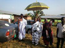 Chief was aanwezig bij de ceremonie
