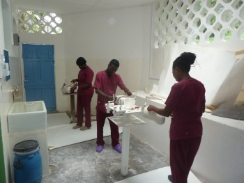 Foto afronding Nsawam trainees aan het werk