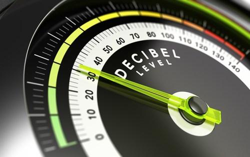 Picture of a decibel meter