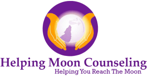 Helping Moon Counseling logo | Helping You Reach the Moon | Boca Raton | Coral Spring