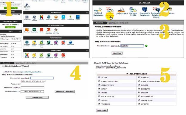 Create a Database Joomla CMS