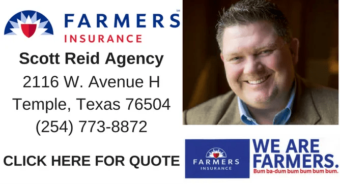 Whether it's home, auto, renters, business insurance or to get your questions answered, Give Scott Reid a call at (254) 773-8872.