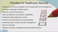 NIST and OCR CHIME Priorities for healthcare security