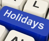 holidays key means leave or break 450x375