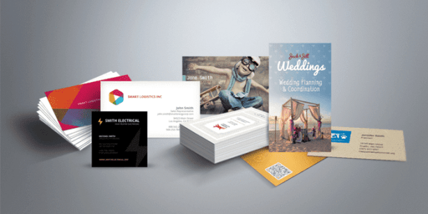 business card and flyers