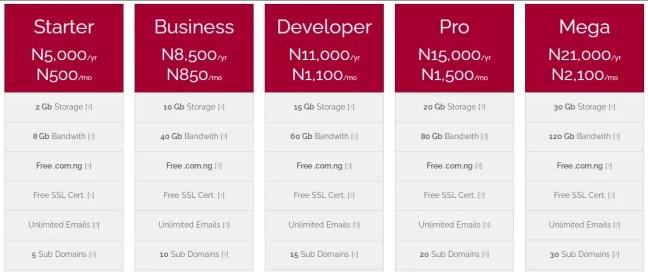 QServers website hosting plans