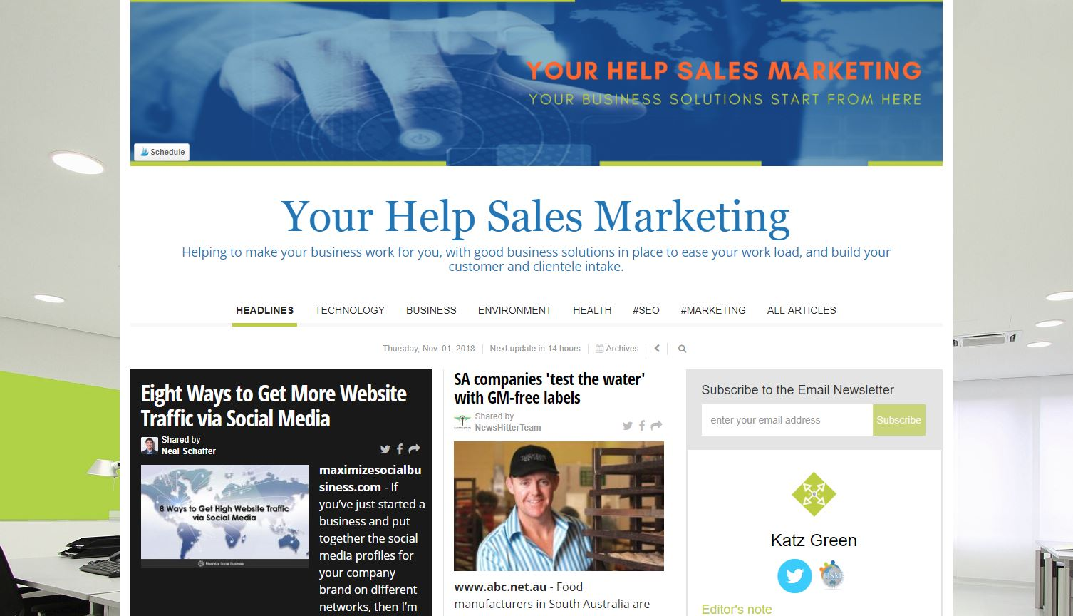Business solutions newsletter