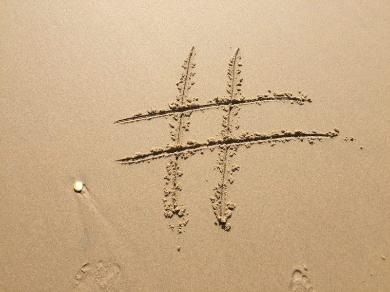 beach footprint hashtag 270271 How the Hashtag Became Ubiquitous