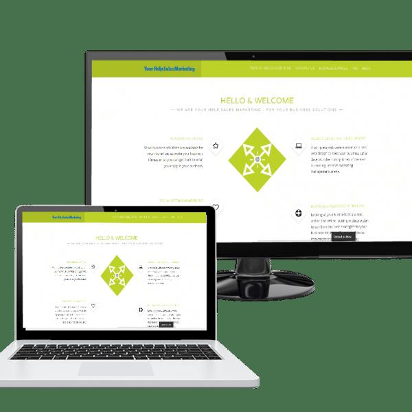 website in monitor laptop