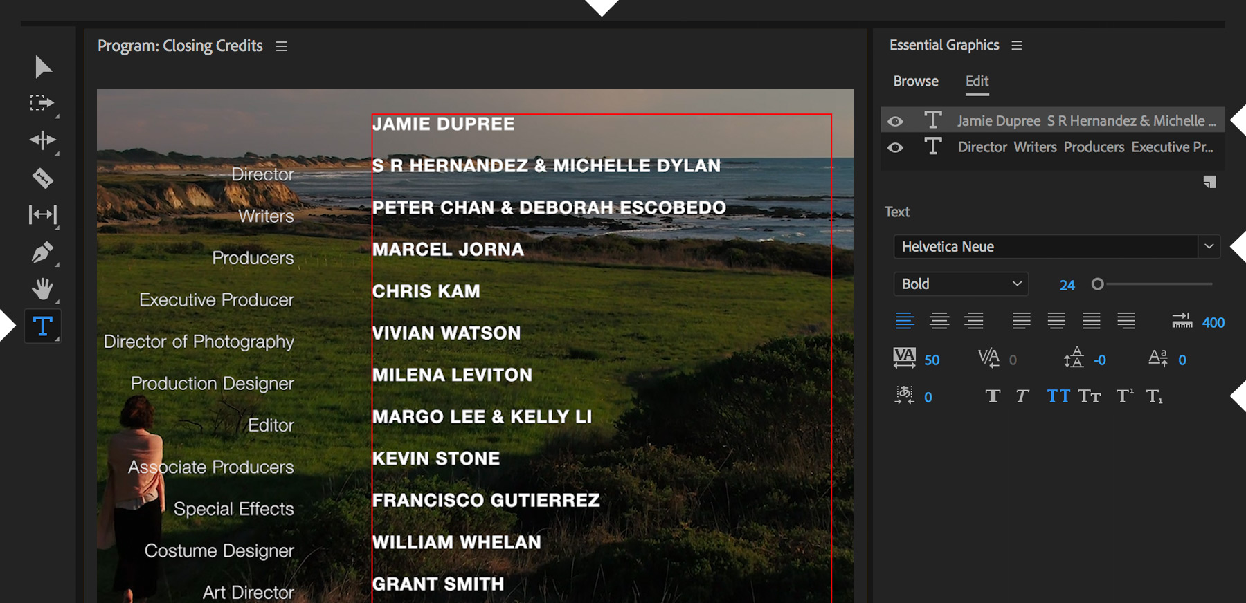 How To Animate End Credits Adobe Premiere Pro Tutorials