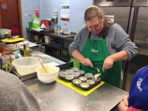 HYG 2018 cookery graduate preparing to bake