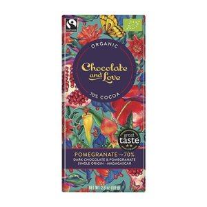 Chokolade Pomegranate 70% Ø Chocolate and Love