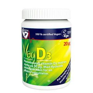 Veg D3 D-vitamin 20 mcg