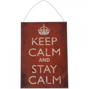 """Skilt """"Keep calm"""""""