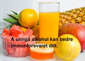 Å unngå alkohol kan bedre immunforsvaret ditt.