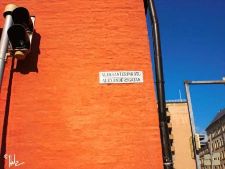 Der Anfang der Aleksanterinkatu (Ecke Pohjoisranta) –das andere Ende ist bei Stockmanns an der Mannerheimintie