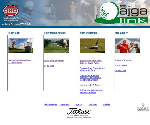 Website Main Page