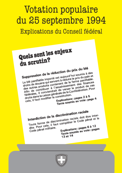 Brochure d'explications du scrutin du 25 septembre 1994