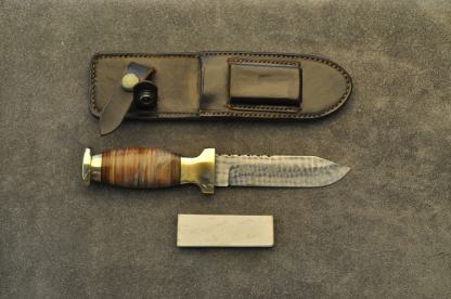 Scout knife with stone & sheath