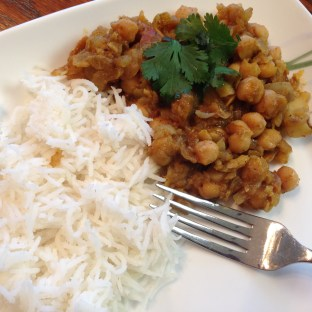 Chole with basmati rice