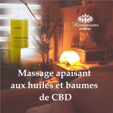 Détente et massage aux huiles de CBD