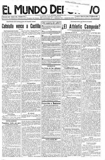 Edición del lunes 27 de marzo de 1916 - Página 1