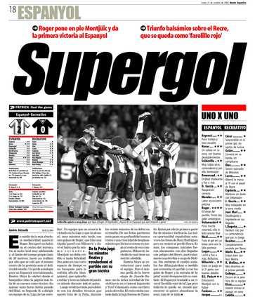 Edición del lunes 21 de octubre de 2002 - Página 18