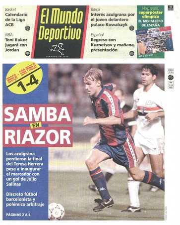 Edición del domingo 16 de agosto de 1992 - Página 1