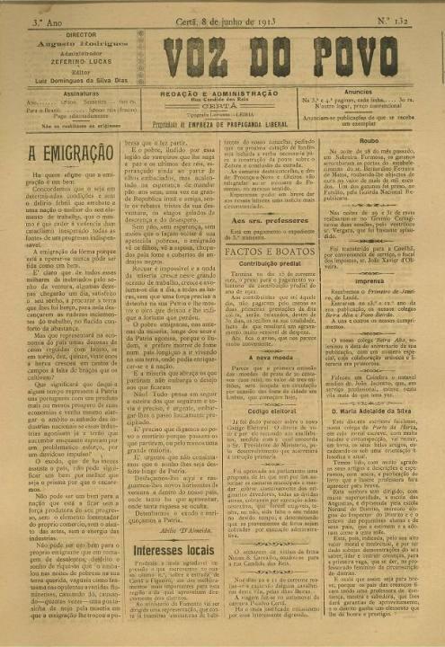 Voz Do Povo Nº132 08 06 1913 P