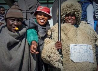 Les paysans lesothans lors de leur manifestation dans les rues de la capitale © EWN / HA