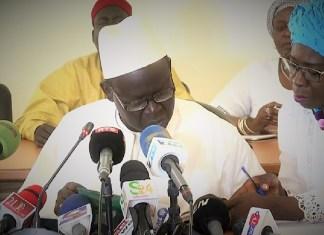 Cheikh Seck, président de la commission d'enquête parlementaire lors de sa sortie médiatique. Dakar ce 2 août 2019 © dakarinfo.net / HA