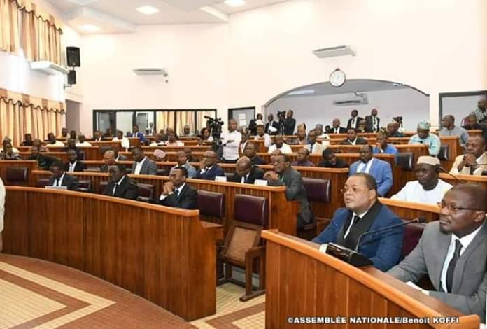 Les députés béninois lors de l'ouverture de la 6ème session extraordinaire de l'année 2019 © Koffi / AN