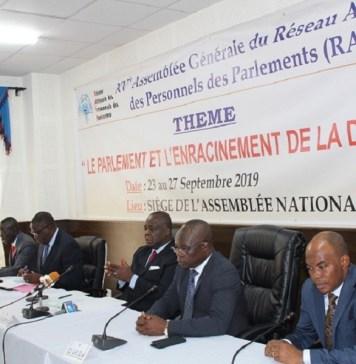 Présidium de la 15ème Assemblée Générale du Réseau Africain des Personnels des Parlements (RAPP) © assemblee-nationale.tg