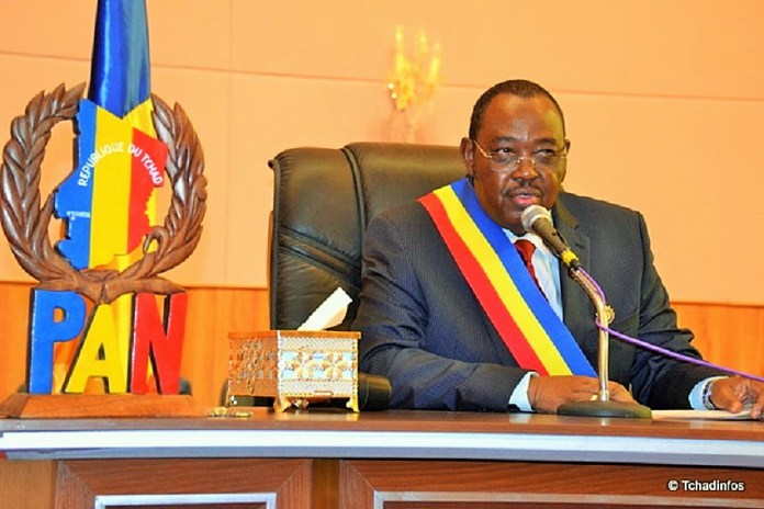 Haroun Kabadi, président de l'Assemblée nationale du Tchad lors de l'ouverture de la session parlementaire © Tchad infos / HA
