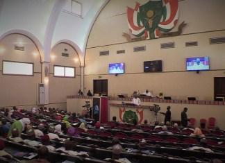 Vue de l'hémicycle lors de la présentation du budget par le ministre Mamadou Diop ce mardi 8 octobre 2019 © Boureima B / HA
